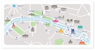 Cartina Della Francia Con Monumenti.Mappa E Cartina Turistica Di Parigi Monumenti E Tour